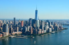 View of Lower Manhattan, New York City Stock Photo