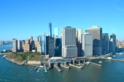View of Lower Manhattan, New York City. USA Royalty Free Stock Images