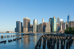 View of lower Manhattan in New York Royalty Free Stock Photo