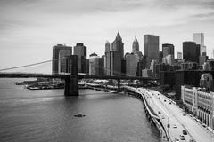 View of lower Manhattan in New York Royalty Free Stock Photography