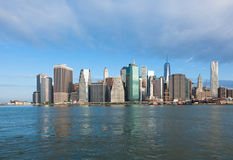 View of lower Manhattan in New York Stock Image