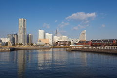 View of lower Minato-Mirai City in Yokohama, Japan. Royalty Free Stock Photography
