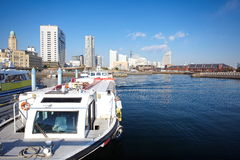View of lower Minato-Mirai City in Yokohama, Japan. Royalty Free Stock Image