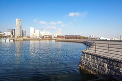 View of lower Minato-Mirai City in Yokohama, Japan. Stock Image