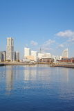 View of lower Minato-Mirai City in Yokohama, Japan. Royalty Free Stock Photos