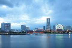 View of lower Minato-Mirai City in Yokohama, Japan. Royalty Free Stock Images
