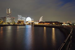 View of lower Minato-Mirai City in Yokohama, Japan. Royalty Free Stock Photo