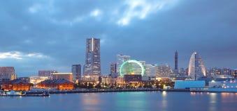 View of lower Minato-Mirai City in Yokohama, Japan. stock image