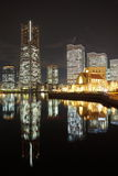 View of lower Minato-Mirai City in Yokohama, Japan. Stock Images