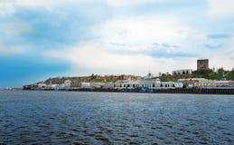 View of Lower Volga embankment in Nizhny Novgorod. Stock Photography