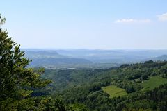 View on the  lozere Royalty Free Stock Photography