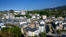 View of Luarca in Asturias, Spain Royalty Free Stock Images