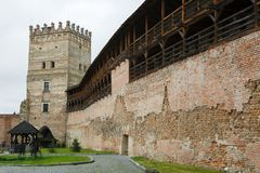 View of Lubart Castle or Lutsk High Castle. View of Lubart Castle or Lutsk High Castle - Ukraine Stock Photos