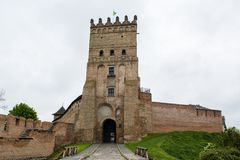 View of Lubart Castle or Lutsk High Castle. View of Lubart Castle or Lutsk High Castle - Ukraine Royalty Free Stock Images