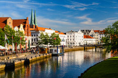 View of Lubeck, Germany. Street view of Lubeck, Germany Royalty Free Stock Photography