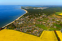 View of Lubmin. Aerial view of Lubmin Royalty Free Stock Photography