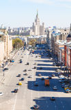 View of Lubyanskaya Square in Moscow Royalty Free Stock Image