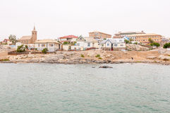 View of Luderitz on a gloomy day stock photos