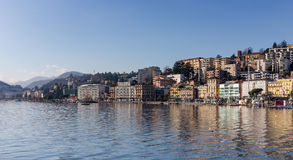 View of Lugano city, Switzerland Stock Photos