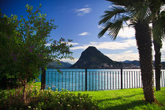 View of Lugano lake Stock Photo