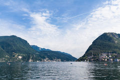 View of Lugano lake Stock Photography