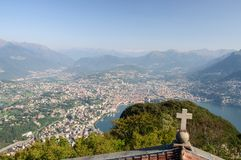 View of lugano-Switzerland Stock Images