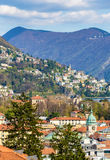 View of Lugano town in Switzerland Stock Photos