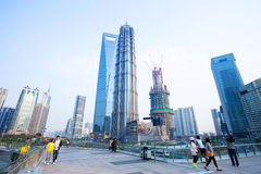View of lujiazhui in shanghai Royalty Free Stock Photography