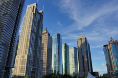 The view of Lujiazui Royalty Free Stock Image