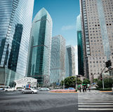 View of the lujiazui financial center in shanghai Royalty Free Stock Photo
