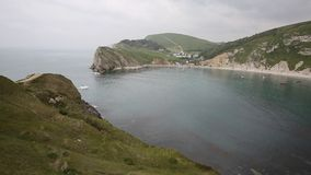 View of Lulworth Cove Dorset England UK PAN Royalty Free Stock Image