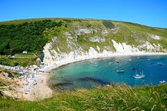 View of Lulworth Cove. Royalty Free Stock Photo