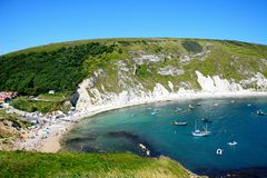 View of Lulworth Cove. Royalty Free Stock Image