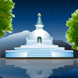 View of Lumbini, buddhist monastery, lake view Royalty Free Stock Image