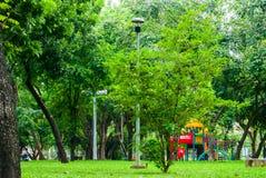 View of Lumphini park, Bangkok Royalty Free Stock Photos