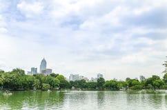 View of Lumpini Park Stock Image