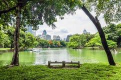 View of Lumpini Park Stock Photos