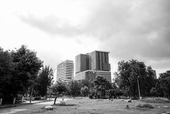 View of Lumphini park Royalty Free Stock Images