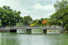View of Lumpini Park Royalty Free Stock Photography