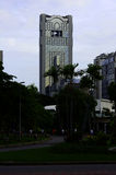 An view from Lumpini park to Thai Wah Tower. Bangkok, Thailand. Royalty Free Stock Photos