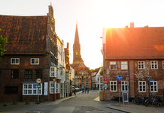 View of Luneburg, Germany. Street view of Luneburg, Germany Royalty Free Stock Images