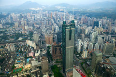 View of Luohu district Shenzhen city China Royalty Free Stock Photos