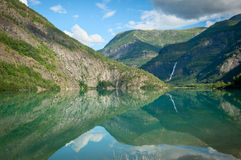 View of Lustrafjorden, Norway Royalty Free Stock Photos