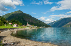 View of Lustrafjorden, Norway Stock Images