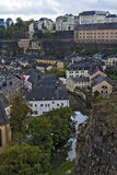 View of Luxembourg city. Royalty Free Stock Images