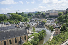 View of Luxembourg City Stock Photos