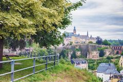 View of Luxembourg fron park Stock Photo