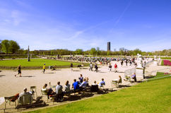 View of the Luxembourg Gardens in Paris Stock Photography