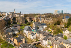 View of Luxembourg historic center Royalty Free Stock Photo