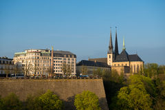 View of Luxembourg historical city center Stock Image